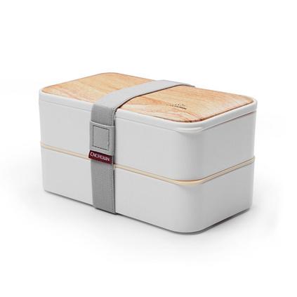 新款雙層便當盒保鮮盒日式學生塑料方形飯盒便當盒2層保溫盒定制