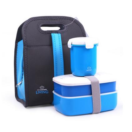 精品便當盒保鮮盒飯盒套裝 時尚日本雙層塑料密封保溫飯盒定制