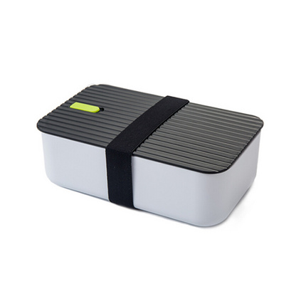時尚單層飯盒保鮮盒微波加熱創意分隔塑料便當盒學生餐盒定制