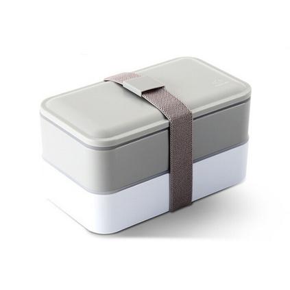 時尚簡約雙層日式便當盒分格飯盒餐盒學生可愛微波保鮮盒定制