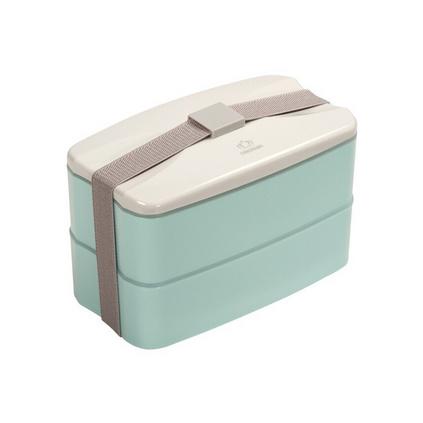 保鮮盒便當盒 雙層時尚PP塑料分格2層飯盒 微波爐專用保溫盒定制