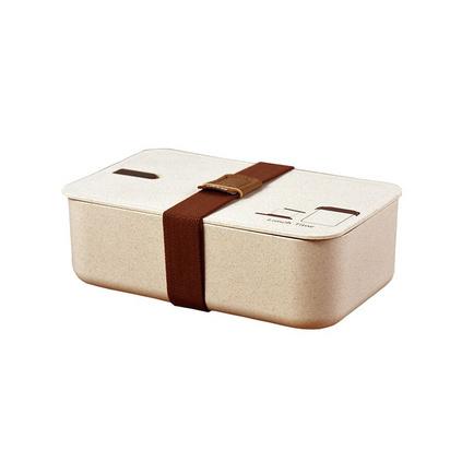 高檔時尚創意環保禮品盒健康谷殼纖維飯盒配餐便當盒套裝定制