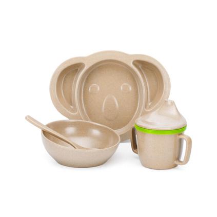 壳氏唯(HUSKS WARE)环保稻壳儿童餐具套装 卡通考拉碗杯勺碟组合定制 KS-31N
