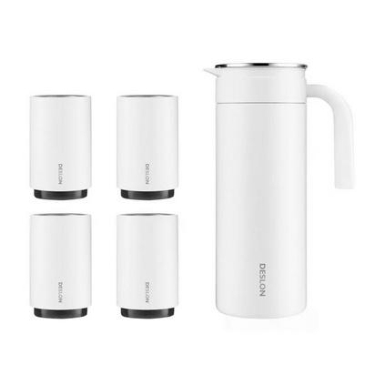 德世朗骑士不锈钢冷水壶 水壶1800ml+分享杯300ml*4套装定制