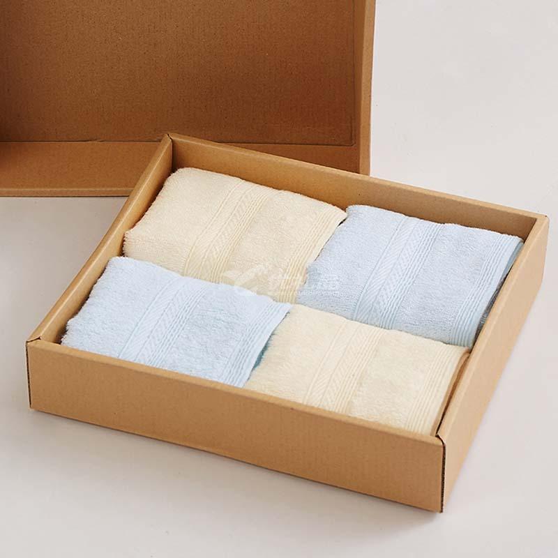 博洋家紡 舒影年華經典套裝舒適柔軟毛巾禮盒4件套套裝定制