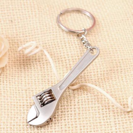 金屬活動扳手鑰匙扣創意仿真扳手汽車小禮品鑰匙掛件定制
