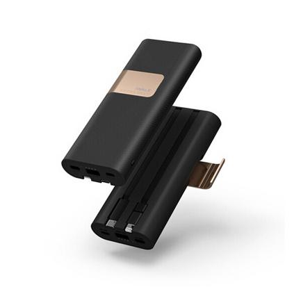 iWALK充電寶20000毫安自帶線大容量便攜快充移動電源定制適用于iPhone三星華為OPPOvivo