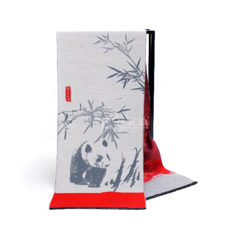 主題文化定織圍巾中國風圍巾定制