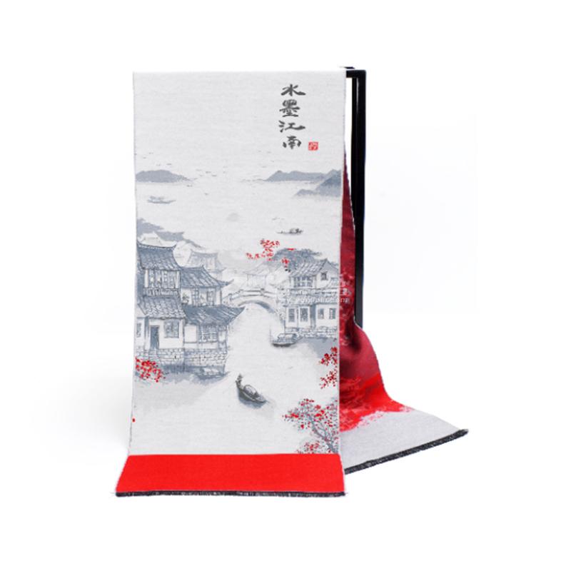 主题文化定织围巾中国风围巾定制