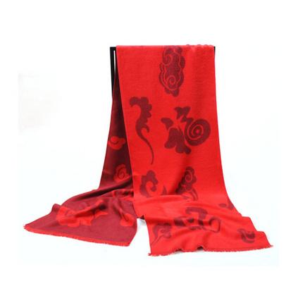 艾絲雅蘭 A-D302中國紅蠶絲絨圍巾定制