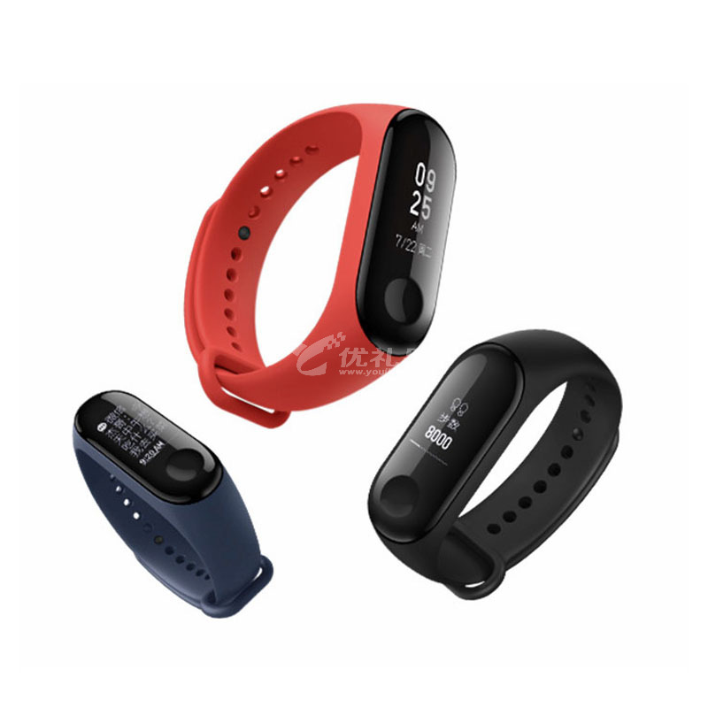 小米手環3智能藍牙男女款運動計步器微信天氣心率睡眠監測手表定制