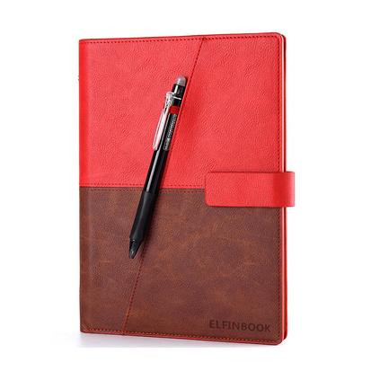 Elfinbook X皮面本App备份管理智能纸质笔记本可重复书写绘画手抄本定制