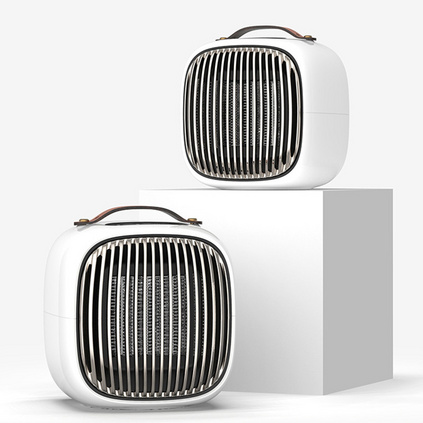三板斧迷你智能暖風機家用宿舍小型取暖器辦公室便攜桌面電暖器定制