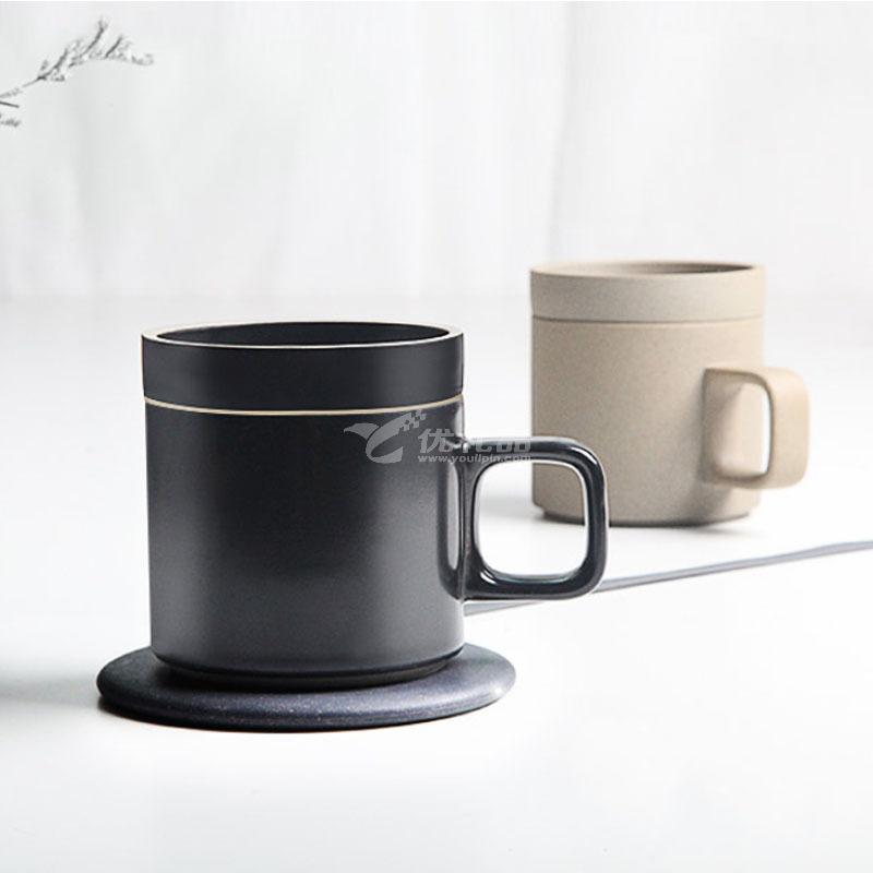 VH無線充保溫杯55度智能恒溫墊創意加熱杯抖音爆款充電加熱兩用水杯定制