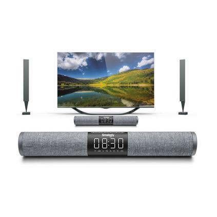 Smalody 8020鬧鐘聲霸藍牙音響 重低音電視音箱帶插卡收音機LED屏音響定制