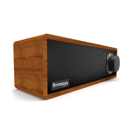 Smalody新款私模便攜式木質復古藍牙音箱家用迷你無線音響定制