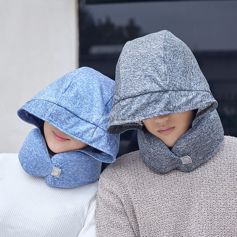 花色旅行必備旅行必備午休便攜枕小睡寶收納盒慢回彈記憶棉u型枕定制