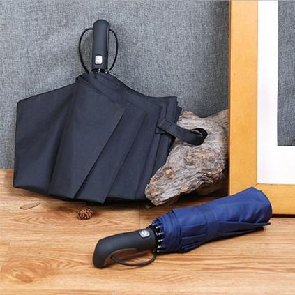 全自動雨傘折疊雙人加大防風十骨三折傘商務禮品廣告傘定制