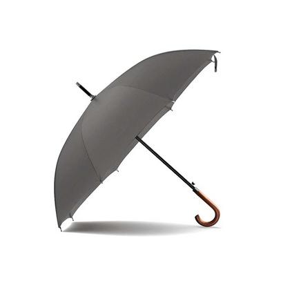 OLYCAT雙人傘木柄彎把長款自動傘 男式商務晴雨傘 純色防風大傘定制