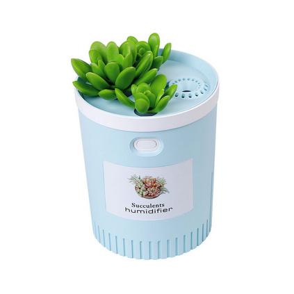 多肉USB迷你加濕器 小盆栽家用空氣大容量凈化器定制