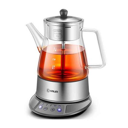 东菱(Donlim)玻璃加厚蒸汽喷淋式全自动煮茶壶电水壶热水壶养生壶定制 KE-8008