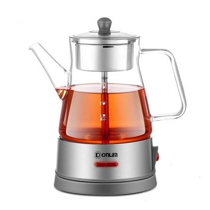东菱(Donlim)玻璃加厚蒸汽喷淋式黑茶电热水壶煮茶壶养生壶定制 KE-8008A