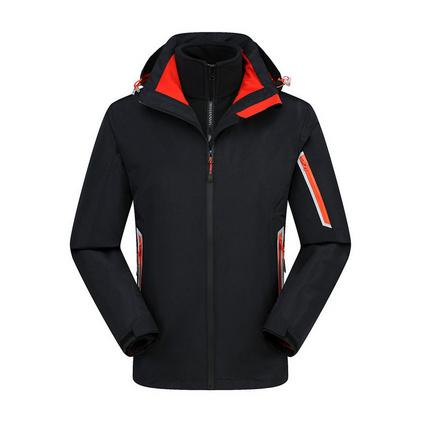 户外新款三合一两件套抓绒冲锋衣定制秋冬工作服定做