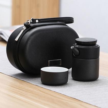 便攜旅行茶具套裝一壺一杯車載快客杯陶瓷泡茶杯定制