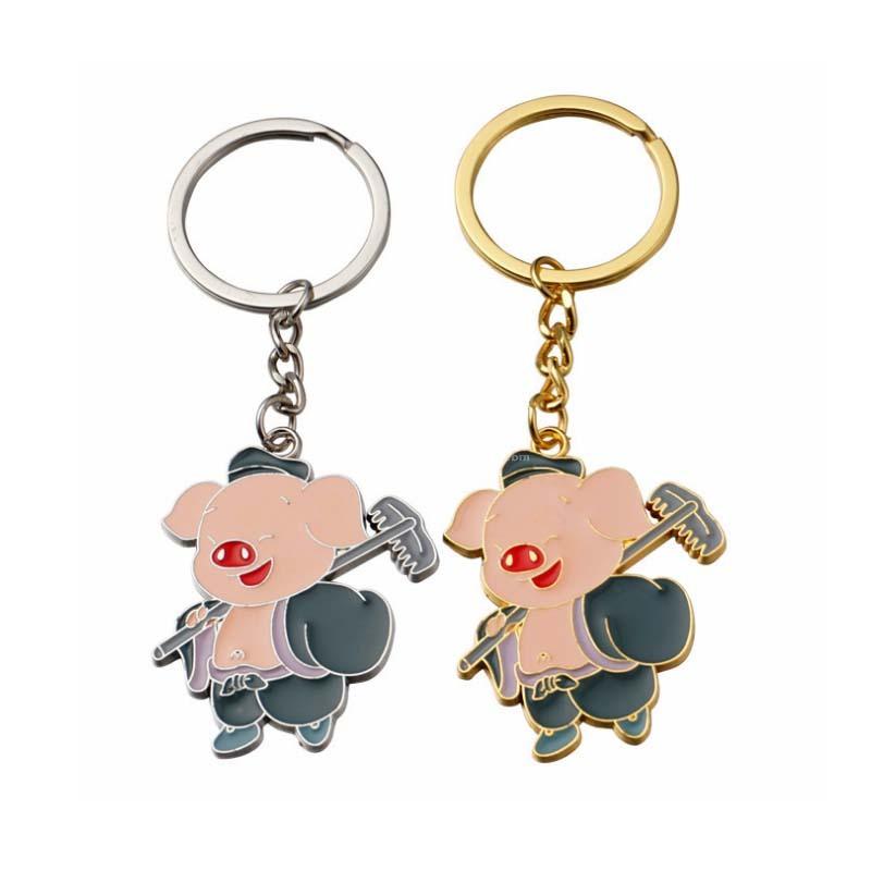 可愛卡通豬八戒鑰匙扣汽車掛件小禮品活動贈品定制