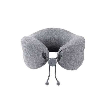 乐范(LERAVAN)按摩护颈枕u型枕飞机办公记忆棉车载颈椎助眠护颈枕按摩枕 灰色标准版定制