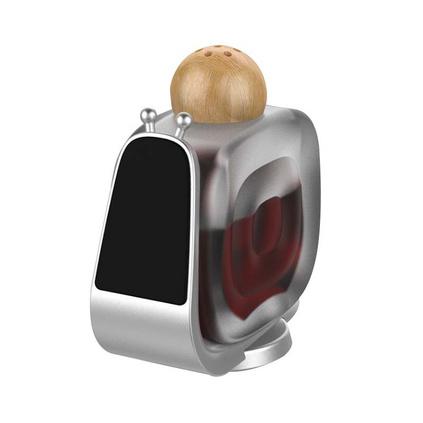 创意香水车载支架 新款磁吸多功能导航架 粘贴式手机支架定制