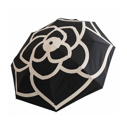 山茶花全自動簡約韓國女森系防曬防紫外線太陽傘三折疊晴雨兩用傘定制
