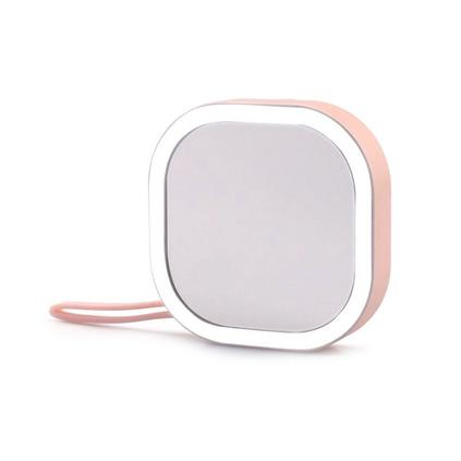 充電寶化妝鏡3500mah移動電源充電寶便攜led化妝鏡定制