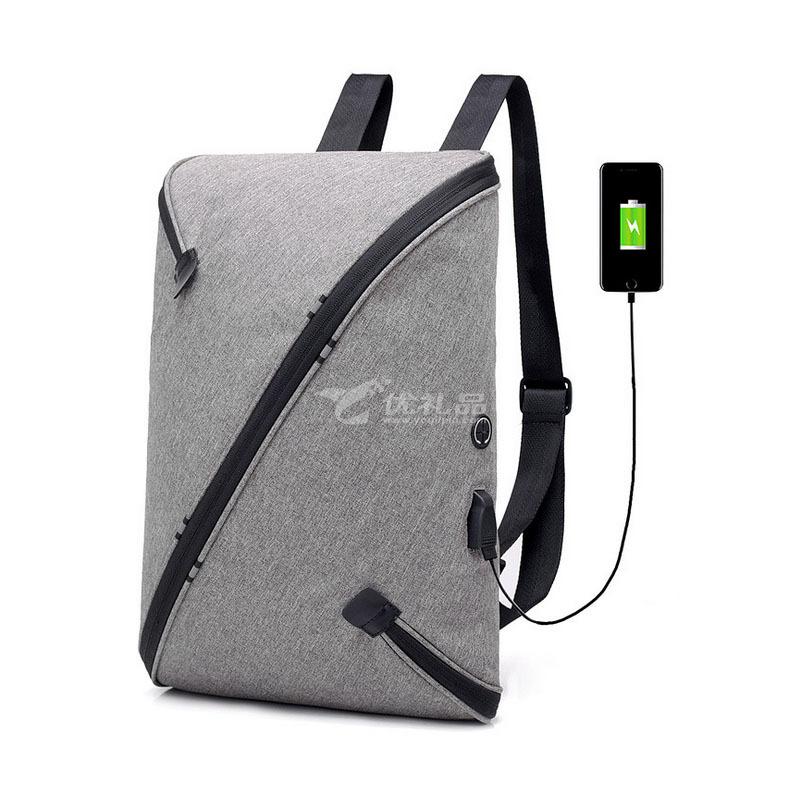多功能男士雙肩包USB充電智能防盜背包大容量旅行電腦包學生書包定制