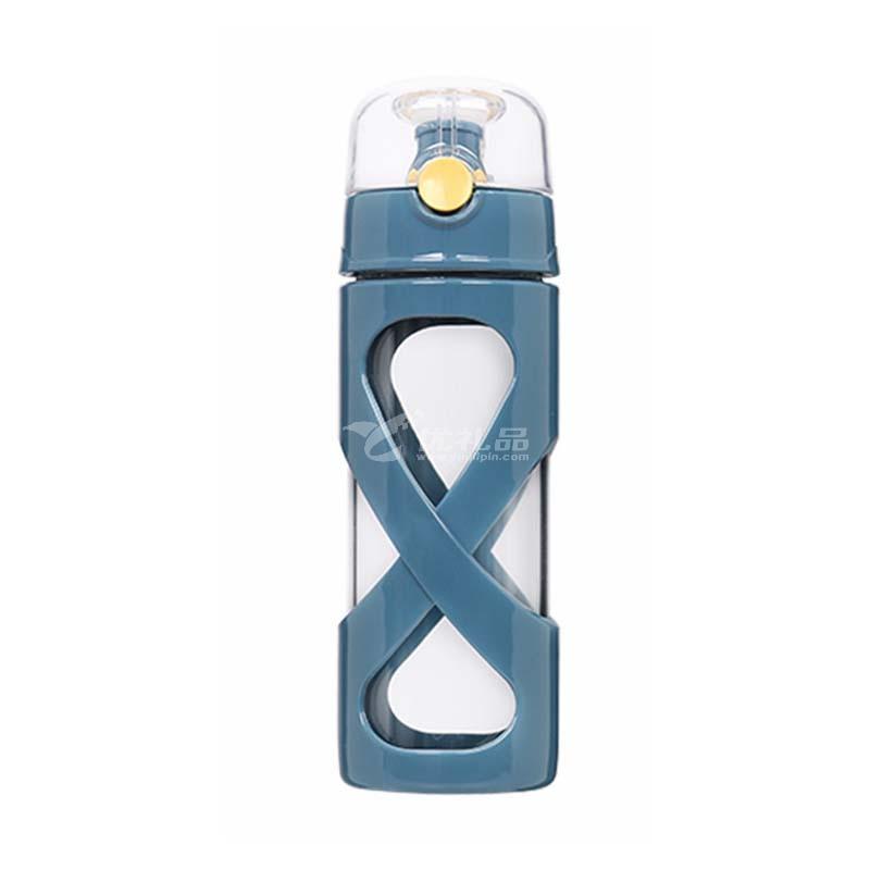 迪乐贝尔商务办公防烫耐高温水杯 简约双层隔热水晶高硼硅玻璃杯定制