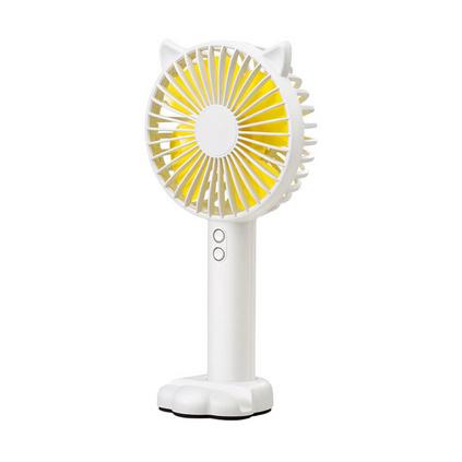 新款 N10手持迷你風扇手持充電卡通小風扇夜光燈小風扇帶手機支架定制