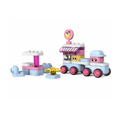葡萄科技(putao)啟初精靈積木玩具 男孩女孩禮物 兒童拼裝圓角大顆粒慣性玩具車 冰淇淋車玩具定制