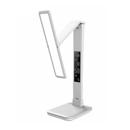 DP 久量 DP-0109 多功能充電式觸控暖白光無級調光鬧鐘學生學習護眼臺燈定制