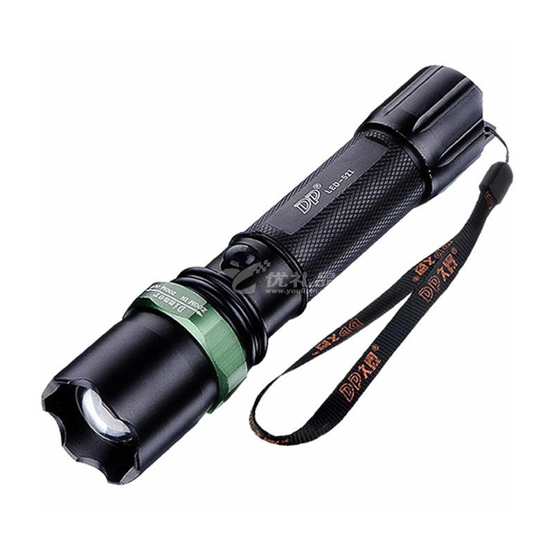DP久量LED-521 變焦聚光強光遠射可充電式手電筒家用鋁合金18650鋰電池戶外照明手燈定制