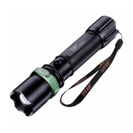DP久量LED-521 变焦聚光强光远射可充电式手电筒家用铝合金18650锂电池户外照明手灯定制