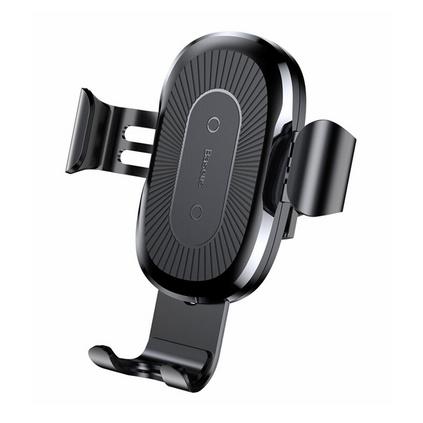 倍思(Baseus)无线充车载手机支架 车载充电器出风口式苹果 iPhoneX/8三星安卓QI无线快充支架定制