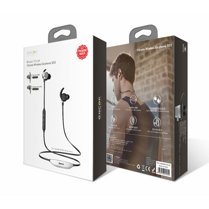 倍思 S03磁吸藍牙耳機蘋果安卓通用時尚立體聲音樂耳機運動耳機磁吸藍牙耳機定制