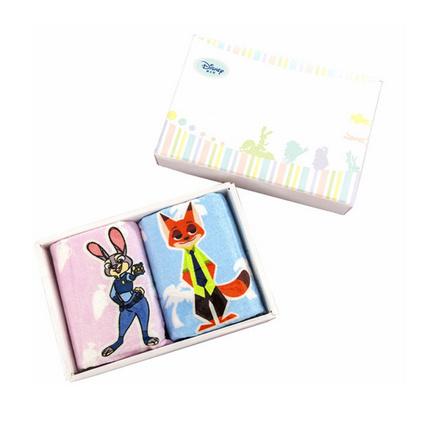 Disney/迪士尼 動物城毛巾禮盒2件套家用全棉面巾男女兒童柔軟吸水帕定制 25x50cm*2