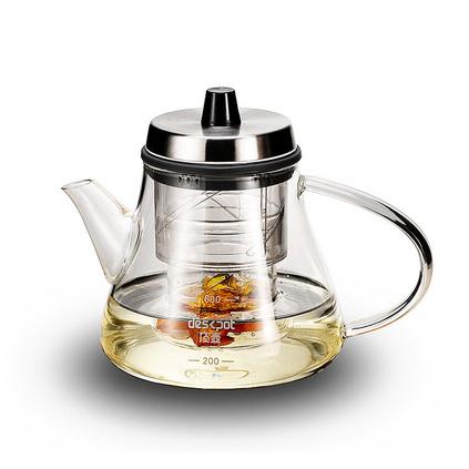 康路寶 頂壺旋轉升降煮泡茶壺手工吹制耐熱玻璃調濃淡白茶煮茶器 引嘴壺