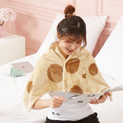 Disney迪士尼 萌趣维尼肩颈毯夏季空调毯学生披肩午睡卡通毯定制 40*110cm