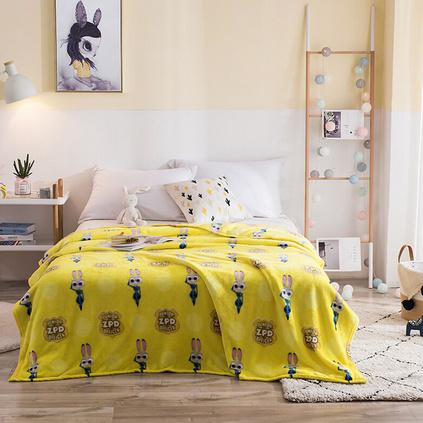 Disney/迪士尼 瘋狂動物城雪絨毯云毯冬季毛毯被子單人宿舍學生毯子雙人床睡毯定制 150x200cm