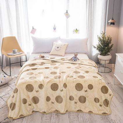 Disney迪士尼 维尼商务云毯盖毯 卡通云毯 办公室午休毯空调云毯毛毯定制 150x200cm