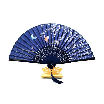 竹質二青折疊扇中國古風扇子折扇學生扇子禮品定制