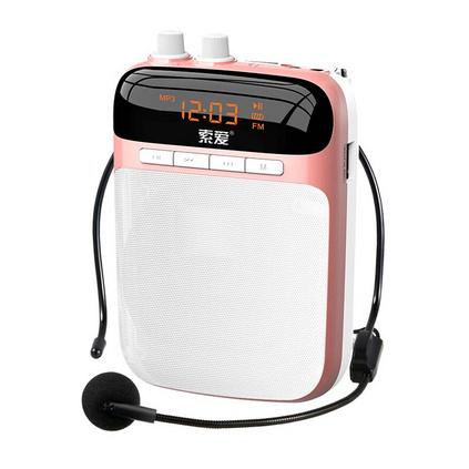 索爱(soaiy)S-318 便携式数码扩音器小蜜蜂大功率教学专用导游扩音器插卡播放器定制