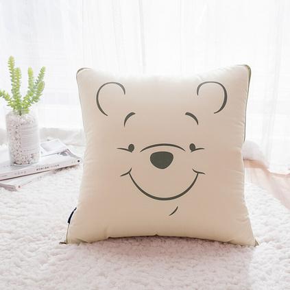 Disney迪士尼 維尼熊抱枕被維尼熊商務兒童卡通寶寶午睡抱枕被子定制
